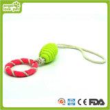 TPR Ring und Rugby mit Baumwolseil-Hundespielwaren