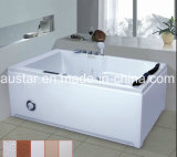 1800mm Links-rechtse Rectangle Massage Bathtub SPA met Ce en RoHS voor Persoon 2 (bij-lw0762b-1)