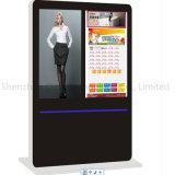 Pantalla comercial LED de interior del monitor del soporte del suelo que hace publicidad de la visualización del LCD