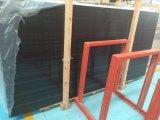 China-schwarze hölzerne Marmorplatten für zurechtgeschnittene Fliesen