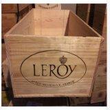 Castillo francés francés Leroy - cuatro caras de la botella del embalaje 12 de la caja del rectángulo del vino con el cuadro