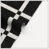 Assegni di lavoro a maglia del cotone bianco & nero dell'indumento di modo