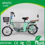 Bicicleta de la velocidad de la sola velocidad, bicicleta de la manera E accionada por la batería de Lihium