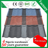 Longue envergure 50 ans de garantie de pierre en métal de tuiles de toit enduites
