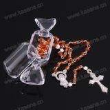 Rectángulo plástico del rosario de la venta caliente al por mayor, rectángulo de regalo del rosario