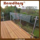 스테인리스 층계 유리제 방책 (SJ-H5064)를 위한 유리제 담 포스트