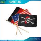 Bandeira impressa Eco-Friendly da mão do poliéster com Pólo plástico (NF01F03013)