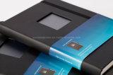 La vente en gros personnalisent le cahier en cuir de livre À couverture dure d'unité centrale avec le guichet