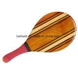 Juego de raqueta de tenis de madera al por mayor de la playa