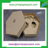 カスタマイズされた六角形の堅いボール紙の包装のペーパーギフト装飾的なボックスワインボックス茶ボックス