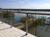 Alambre de acero inoxidable / barandilla de la escalera de la cabina / barandilla de la cubierta con la barandilla