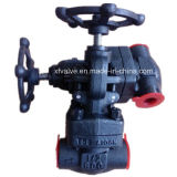 800lb 1500lb a modifié le robinet d'arrêt sphérique d'extrémité d'amorçage de l'acier du carbone A105