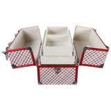 Stichelei Pattenn Doppelt-geöffneter Verfassungs-Kasten mit multi Tellersegmenten