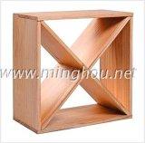 24 fabbriche di legno della cremagliera del cubo del vino del cubo compatto della cantina della bottiglia