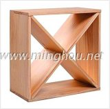 De houten Kubus van de Wijn van het Rek van de Wijn Houten voor de Toebehoren van de Wijn