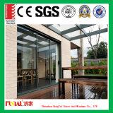 Нутряным или внешний раздвижная дверь обрамленная алюминием стеклянная