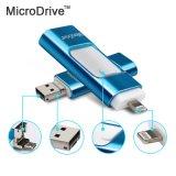 Приводы вспышки USB привода HD вспышки USB металла Smare 3in1 128GB 64GB 32GB 16GB для iPhone для iPad для iPod и Android телефона