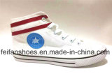 El más nuevo Mediados de-Cortar los zapatos ocasionales de los zapatos de lona de la inyección de la escuela (FFDL170109-04)