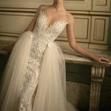 Платье венчания lhbim колонки оболочки полнометражное с отделяемой юбкой