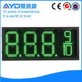 Hidly el panel del precio de la gasolina de Asia LED del verde de 12 pulgadas