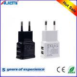 휴대용 이중 USB 여행 충전기 EU/Us 플러그