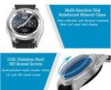 Heiße Puls-Monitor Psg Nr.-1 G6 Bluetooth 4.0 Smartwatch intelligente Uhr-Fernsteuerungsschlaf-Monitor-Armbanduhr für androides IOS-intelligentes Telefon-Silber-Stahlband