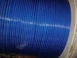Cordage en acier en acier recouvert de PVC bleu