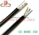 Alambre de gota 2 pares cable llenado teléfono del ordenador del cable del cable UTP de la comunicación del cable del mensajero/de la red de cable