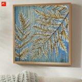 Nouvelle feuille de feuille de chanvre peinture à l'huile acrylique sur toile