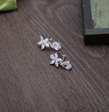 Кристалл кубической кроны тиары невесты Zirconia шикарный серебряный покрынный