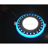Il bordo ed il punto blu-chiaro del comitato del LED hanno incastonato montato intorno ad un comitato 6+2 W di due colori