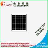 mono módulo solar de 18V 20W para o sistema 12V (2017)