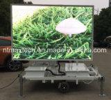 Signe mobile de publicité portatif d'affichage vidéo de signe d'étalage polychrome monté par remorque