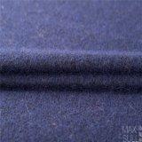 Tela mezclada de las lanas del moer y de las lanas para la capa del invierno en azul de marina