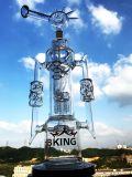 Tubulação de água de fumo de vidro da forma nova do moinho de vento do Percolator do Birdcage da chegada