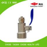 Spire de pouce de 1/2 robinet à tournant sphérique en métal de 3/8 pouce pour la pipe de PE de RO