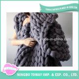 Cobertor acrílico do Crochet do preço de China do poliéster da alta qualidade