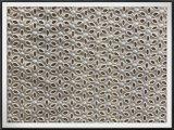 Tela floral do bordado da flor do laço do ilhó do algodão da tela de algodão