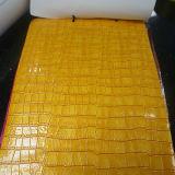Cuero coloreado del cocodrilo del PVC para los bolsos