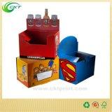 Stand coloré de boîte en carton pour vendre (circuit CD-296)