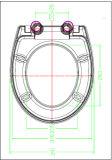 Siège des toilettes proche mou de surface plane de Duroplast