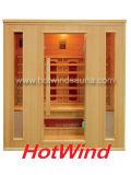 Sauna en bois portatif de l'infrarouge 2016 lointain de pièce neuve de sauna pour 4 personnes (SEK-AP4)