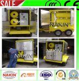 Tipo mobile purificatore di olio del trasformatore di vuoto con il rimorchio (1800L/H)