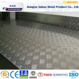 201 304 gravaram placa Checkered do aço inoxidável