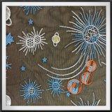 Ineinander greifen-Stickerei mit Stern-Tulle-Stickerei mit Himmelskörper
