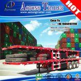 3 Axles каркасных шассиего 40ft планшетный контейнера трейлер Semi
