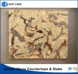 Pierre conçue pour le dessus de vanité de brames de quartz avec des normes de GV (couleurs de marbre)