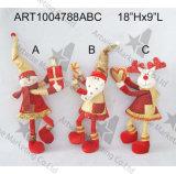 Jouets debout de Noël avec les cadeaux, 3 Asst