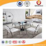 Troca & fornecedor da tabela de jantar de vidro dos produtos de China (UL-DC8033)