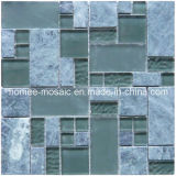 Tuiles de mosaïque de mélange en verre et de pierre (GQ04)